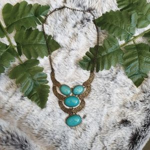 GWP - Turquoise blue statement necklace